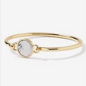 Gold bangle white marble circle Banana Republic